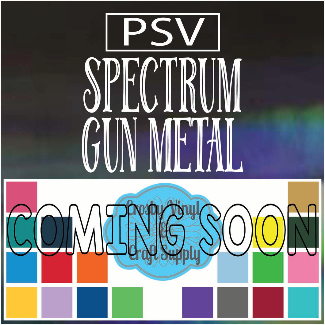 Permanent PS Sign Vinyl-Spectrum Gun Metal