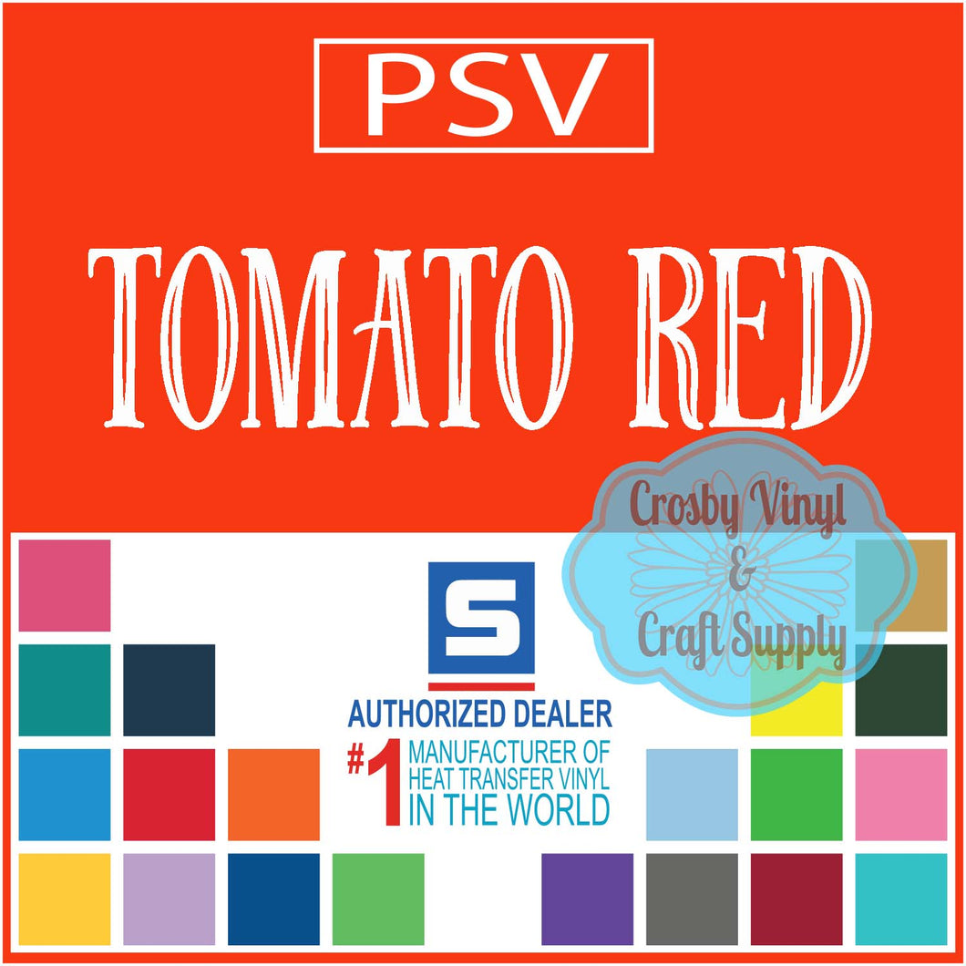 Permanent PS Sign Vinyl-Tomato Red