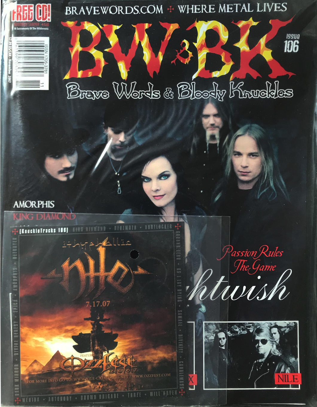 BW&BK Issue 106 (Nightwish) w/ FREE CD !