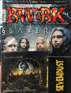 BW&BK Issue 24 (Slayer) w/ FREE CD !
