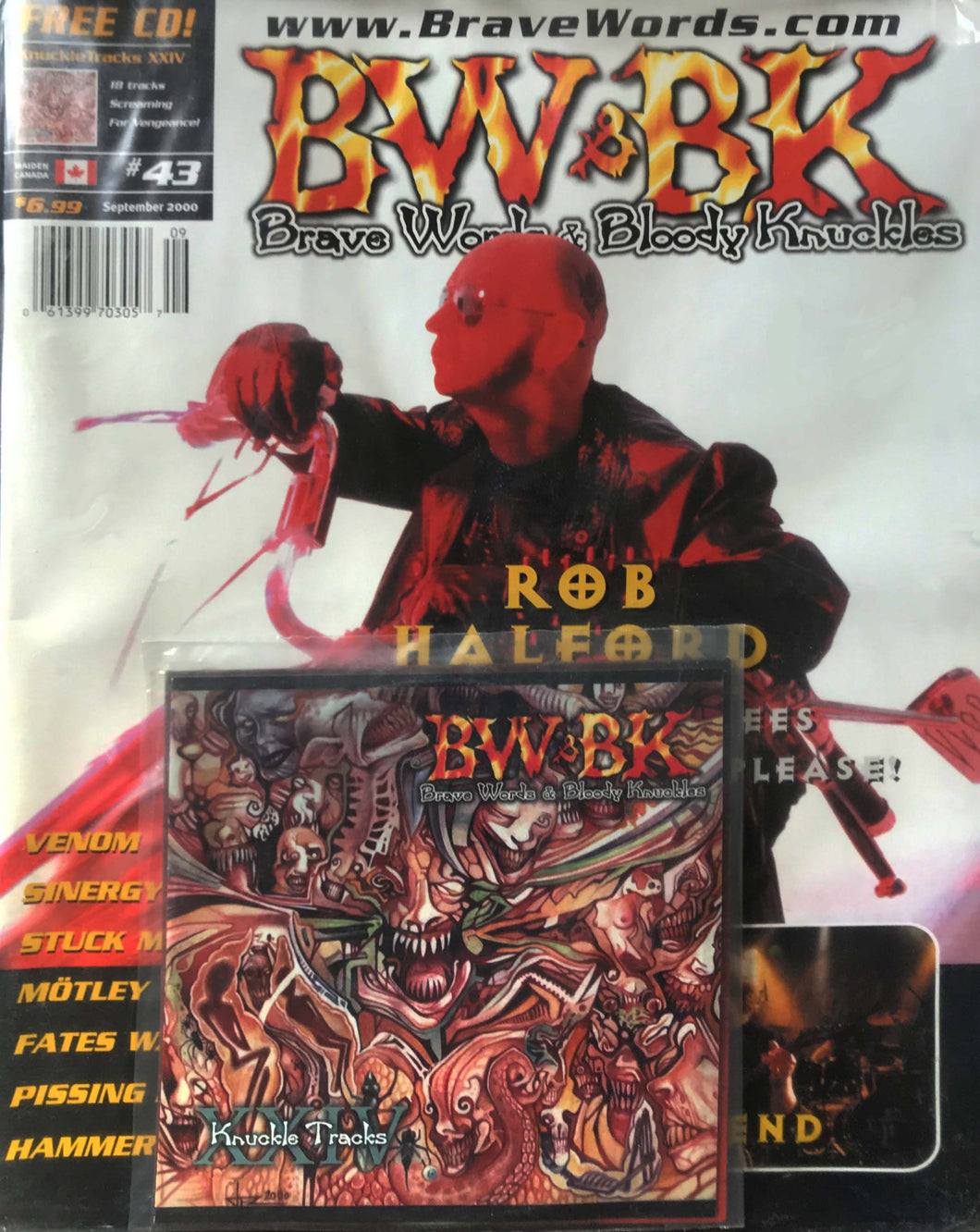 BW&BK Issue 43 (Rob Halford) w/ FREE CD !