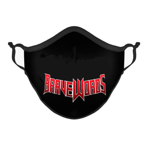 Classic Brave Words Logo Mask