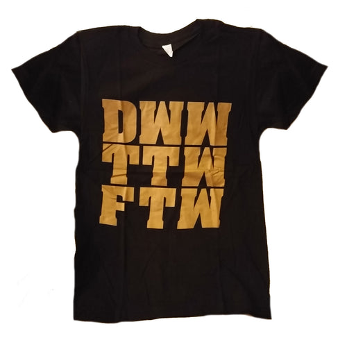 Gold Name Black T