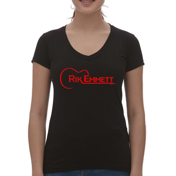 Guitar Logo Girl V-Neck