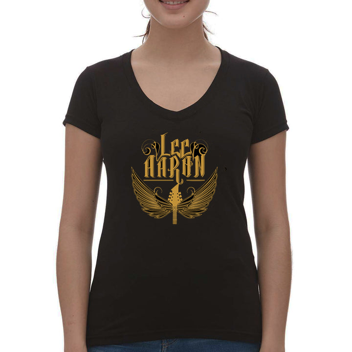 Guitar Wings Girl V-Neck