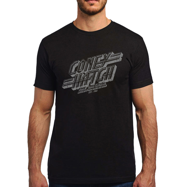 Distressed Logo Mens Black T
