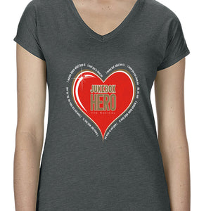 JBH Heart Songs Ladies V-Neck