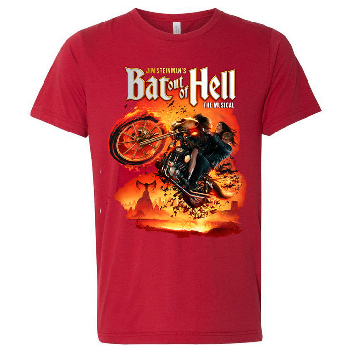 Bat Out Of Hell Songback Red  T