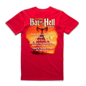 Bat Out Of Hell Songback T
