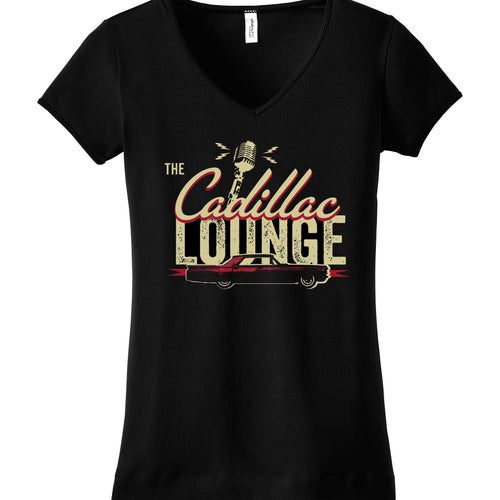 Female Fitted V-Neck Black