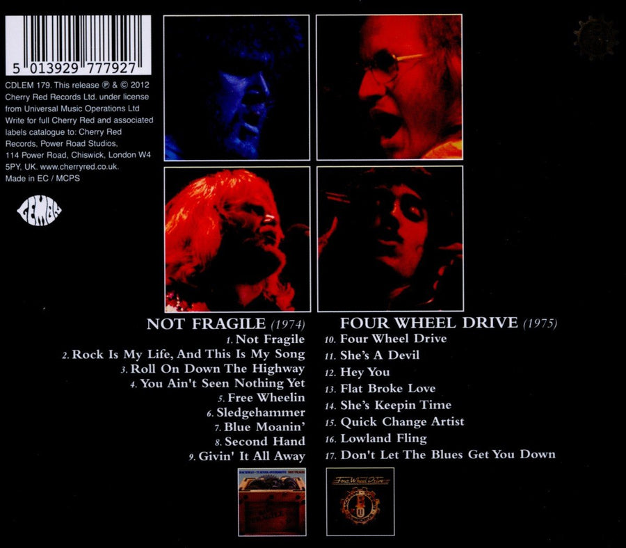 BTO - Not Fragile (1974) & Four Wheel Drive (1975) CD