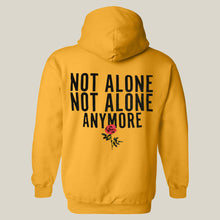Load image into Gallery viewer, Red Rose Not Alone Yellow Hoodie