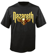 Load image into Gallery viewer, Gold Skull Wings T