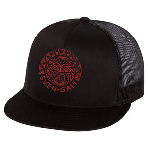 Snapback hat with patch