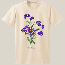 Load image into Gallery viewer, Purple Flower Natural Unisex T
