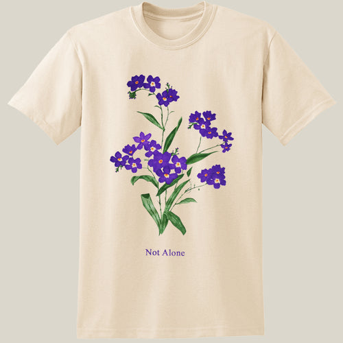 Purple Flower Natural Unisex T