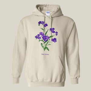 Purple Flower Natural Mens Hoodie