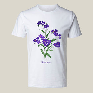Purple Flower White Unisex T