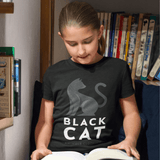 T-Shirt BLACK CAT <br> ENFANT
