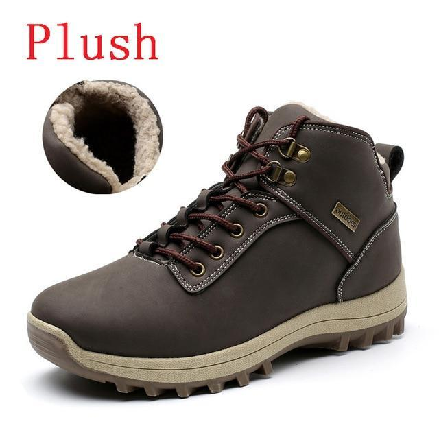 MIXIDELAI Free shipping Super Warm Men boots Winter Leather boots Waterproof Rubber Snow Boots England Retro ankle boots For Men winter shoes