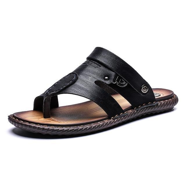 ARUONET Summer New Style Men's Sandals Leather Soft Bottom Leisure Men Shoes Sandals Recommend Zandalias Para Hombre Verano