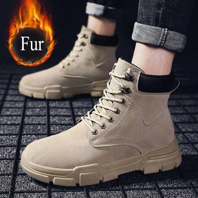 Men Warm Winter Boots Male Fashion Ankle Boots For Men Boots Man Fur Men's Boots Snow Boots
