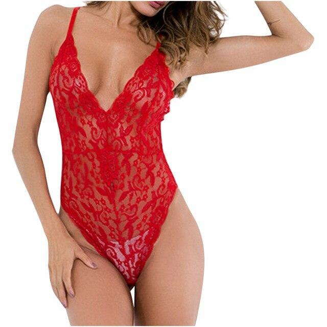 Stylish Transparent Women's Teddies Sexy Lace Perspective Lingerie Polyester Clothes Underwear Playsuit Body Encaje Mujer Sexy