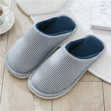 Whoholl Women Winter Home Slippers Striped Shoes Soft Winter Warm House Slippers Indoor Bedroom Lovers Couples House Slipper 9.5