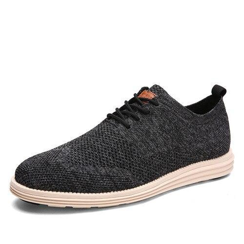 Men Casual Shoes Men Business Formal Brogue Weave Carved Oxfords Wedding Dress Shoes Breathable Light Men Shoes