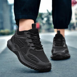 HEINRICH Free shipping Causal Shoes Men Breathable Mesh Men Shoes  Classic Street Style Sneakers Solid Lace-Up Tenis Outdoor Sneaker