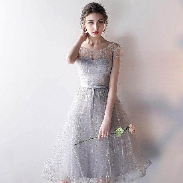 New Arrival Chiffon Long Bridesmaid Dresses for Women Elegant Grey Formal Wedding Party Gowns