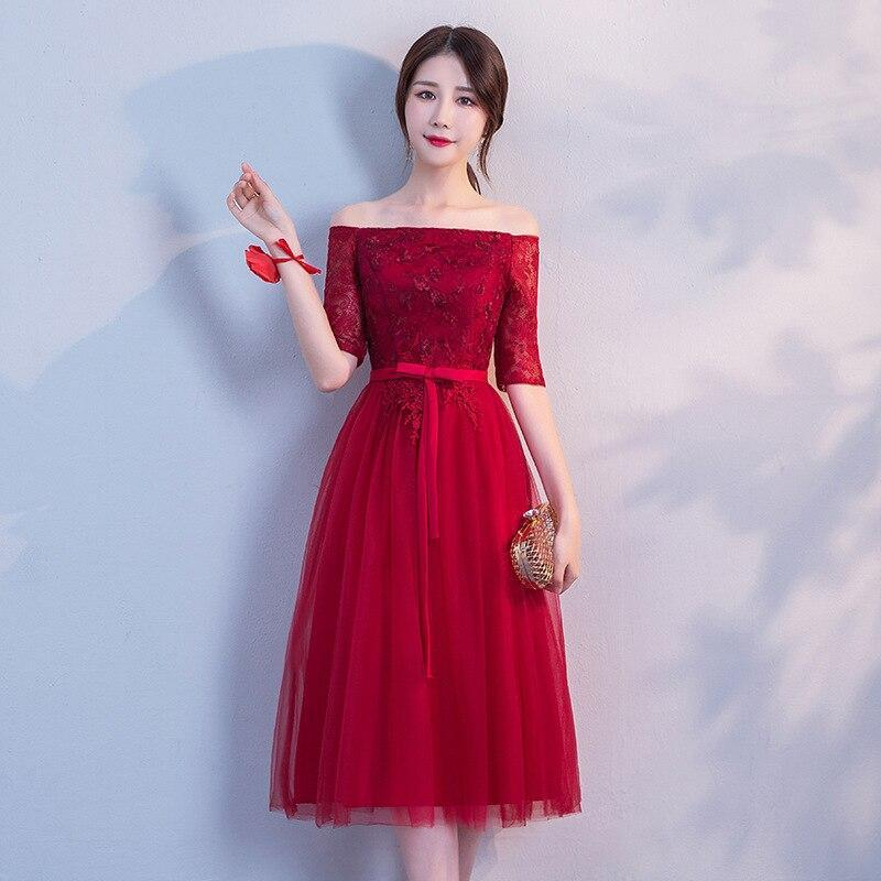 Robe  Lace Appliques Bridesmaid Dresses Off The Shoulder Elegant A Line Party Gowns