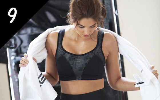 Pour Moi Energy Non-Wired Full Cup Sports Bra Black/White