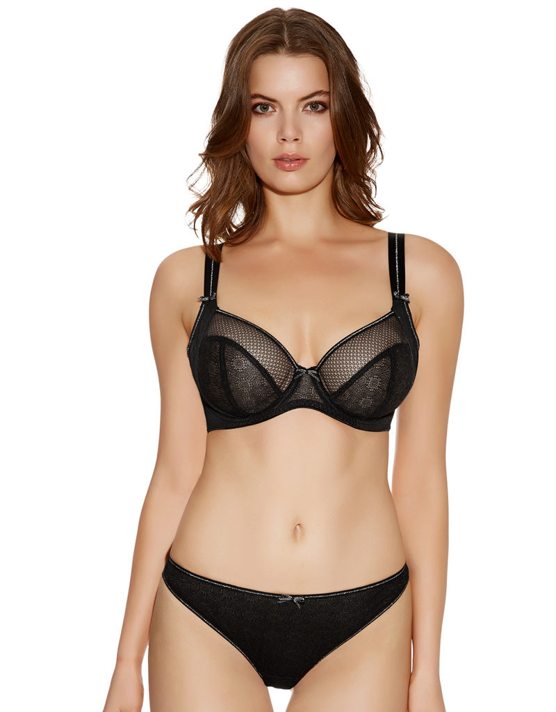Freya Hero Side Support Bra Black