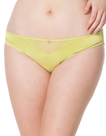 Scantilly by Curvy Kate Peek-A-Boo Brief Chartreuse