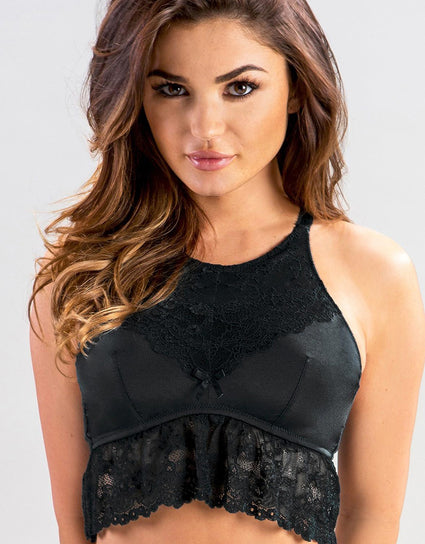 Pour Moi Cherish High Neck Bralette  Black