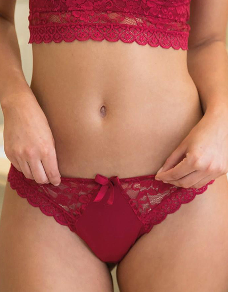 Pour Moi Rebel Brazilian Brief Red