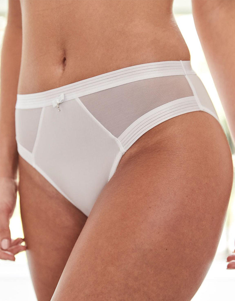 Pour Moi Viva Luxe High Leg Brief White