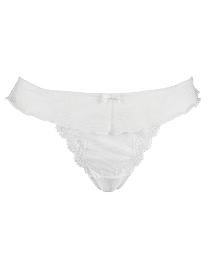 Pour Moi Ditto Skirted Thong White