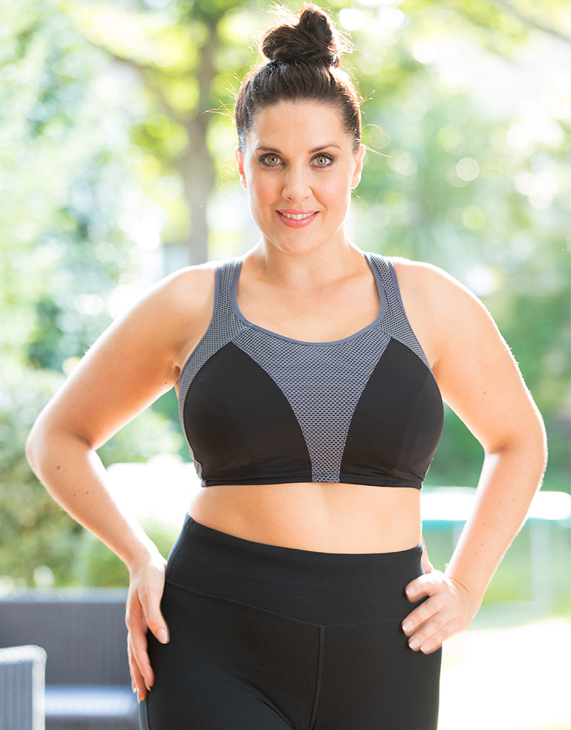 Pour Moi Energy Fearless Non Wired Full Cup Sports Bra Black/Slate