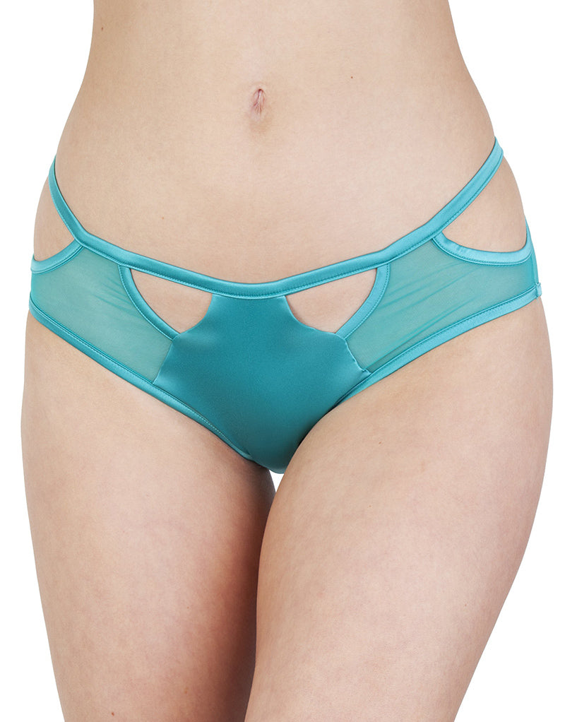 Playful Promises Junko Origami Cut-out Brief Turquoise