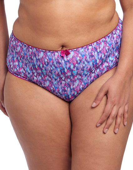 Goddess Kayla Brief Plum Shimmy Multi