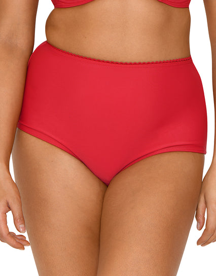 Curvy Kate Jetty High Waist Bikini Brief Cherry Red