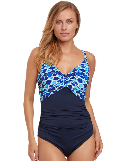 Fantasie Tuscany Twist Front Swimsuit Ink Blue