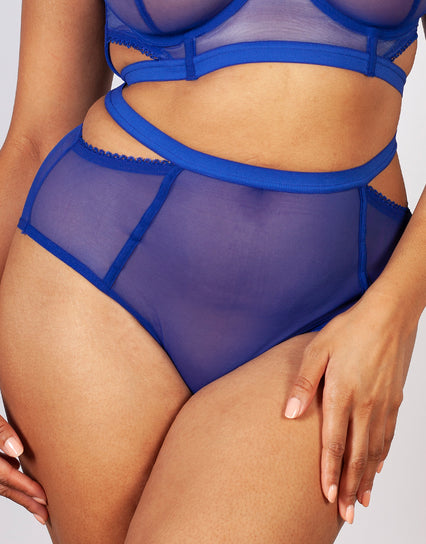 Gabi Fresh x Playful Promises Harper Cut-Out High Waist Brief Blue