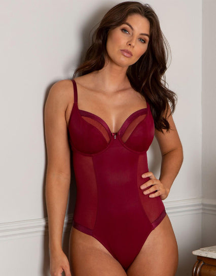 Pour Moi Viva Luxe Underwired Body Deep Red