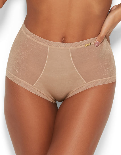 Gossard Glossies Deep Short Nude