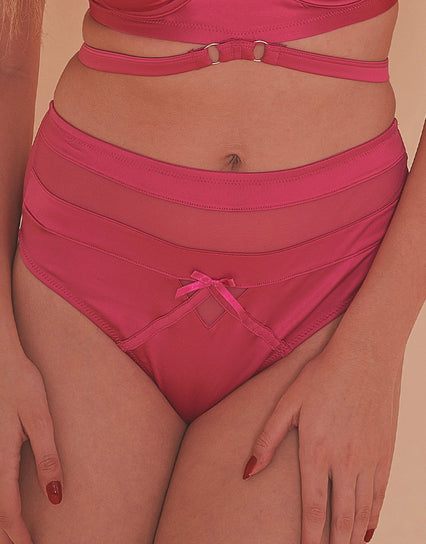 Playful Promises Madeleine Bondage Brief Hot pink