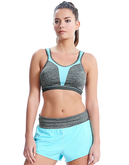Freya Active Force Soft Cup Sports Bra Carbon Grey/Aqua