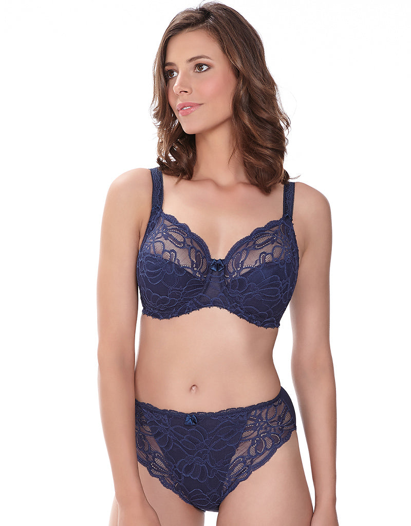 Fantasie Jacqueline Lace Full Cup with Side Support Bra Navy